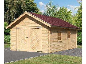 Karibu KARIBU Einzel-Garage »Christian«, BxT: 435x572 cm, Einfahrtshöhe: 193 cm, natur, natur