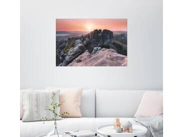 Posterlounge Wandbild - Jonas Hühn »Schrammsteine«, bunt, Leinwandbild, 150 x 100 cm, bunt