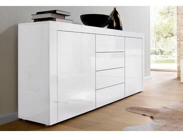 borchardt Möbel Borchardt Möbel Sideboard, Breite 139 cm, weiß, Weiß Hochglanz