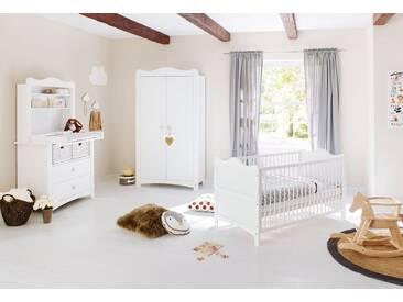 Pinolino® Pinolino Babyzimmer Set (4-tlg) Kinderzimmer »Florentina« breit, inkl. Regalaufsatz, weiß, weiß