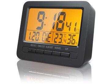 BEARWARE Bearware Digitaler Funk Wecker mit Temperatur & Luftfeuchtigkeitsanzeige »Reisewecker mit Funkuhr«, schwarz, schwarz