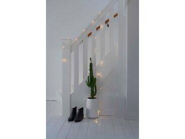KONSTSMIDE LED Dekolichterkette, Metallkegel, silberfarben, Lichtquelle warm-weiß, Silber