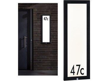 Paulmann LED Außen-Deckenleuchte »Panel 30x90 cm IP44 23W 230V Anthrazit Hausnummer mit Bewegungsmelder«, 1-flammig
