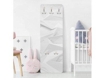 Bilderwelten Garderobe »Abstrakte 3D Optik«, grau, 139x46 cm, Grau