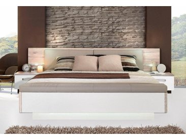 FORTE Schlafzimmer-Set »Rondino,«, mit Polsterkopfteil und LED-Beleuchtung, natur, Ohne Bettbank, 180x200 cm, 180x200 cm