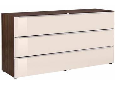 nolte® Möbel Kommode »Alegro Style«, Breite 160 cm Glasfronten, braun, Glas magnolia/nussbaum