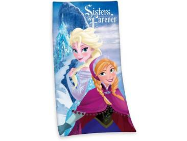 Disney Badetuch »Die Eiskönigin«, mit Elsa & Anna, blau, Velours, blau