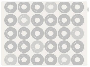 Contento Platzset »Jay - Ringe« (Set 2-tlg), grau, Silikon, weiß-grau