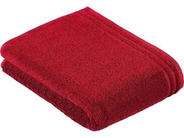 Vossen Badetuch »Calypso«, mit schmaler Bordüre, rot, Walkfrottee, rubin