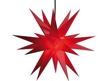 SAICO Original SAICO-Adventsstern aus hochwertigem Kunststoff, rot, rot