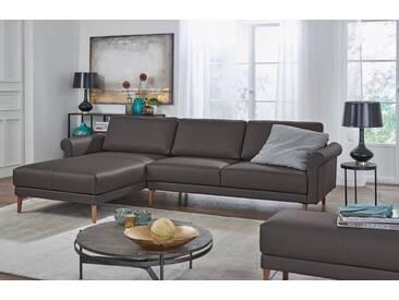 Hülsta Sofa hülsta sofa Polsterecke »hs.450« im modernen Landhausstil, Breite 282 cm, braun, Recamiere links, graubraun