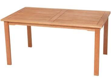 MERXX Gartentisch »Santos«, Eukalyptus, 150x90 cm, braun, natur, 90 cm x 150 cm, beige