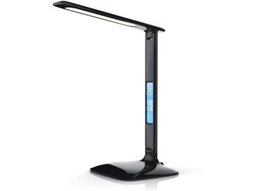 Brandson dimmbare LED Schreibtischlampe mit 450 Lumen »Temperatur-, Alarm- & Kalenderfunktion«, schwarz, schwarz