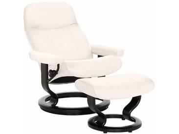 Stressless® Set: Relaxsessel mit Hocker »Garda« mit Classic Base, Größe M, mit Schlaffunktion, weiß, Fuß wengefarben, snow