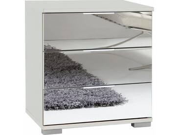Wimex Nachttisch »Easy«, mit Glas- oder Spiegelfront, weiß, B/T/H: 52/38/58 cm, weiß/Spiegel