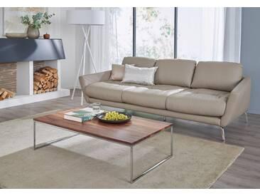 W.SCHILLIG 3-Sitzer Megasofa »softy«, mit Heftung im Sitz, weiß, weiß