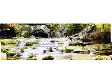 Artland Wandgarderobe »Jule: Waldflüsschen«, grün, 30 x 90 x 2,8 cm, Grün