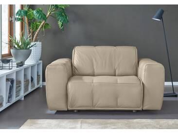 NATUZZI EDITIONS Sessel »Alessio« in zwei Lederqualitäten, grau, mastice kitt