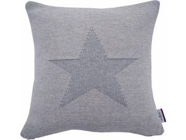 Tom Tailor Kissenhüllen »MELANGE STAR«, grau, Baumwolle, grau