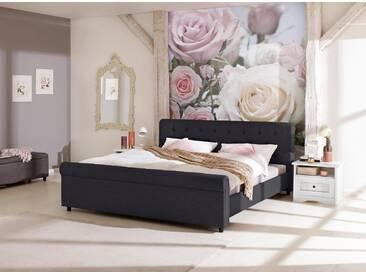 Home affaire Polsterbett »Goronna« in 5 verschiedenen Farben und 4 Breiten, schwarz, schwarz