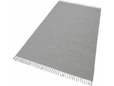 THEKO Teppich »Happy Cotton«, rechteckig, Höhe 5 mm, beidseitig verwendbar, grau, 5 mm, grau