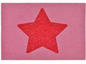 Zala Living Fußmatte »Stern«, rechteckig, Höhe 7 mm, rutschhemmend beschichtet, In- & Outdoor geeignet, rosa, 7 mm, rosa-pink