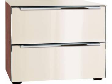 nolte® Möbel Nachttisch»Alegro Style«, Breite 50 cm, braun, nussbaum/Glas magnolia, braun