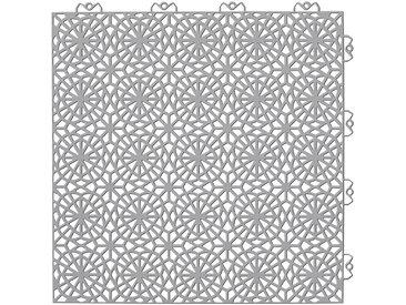 Bergo Flooring Set: Kunststofffliesen »XL«, mit Klick-Verbindung, 35 Stk. für 5 m², steingrau, grau, 5 m², grau