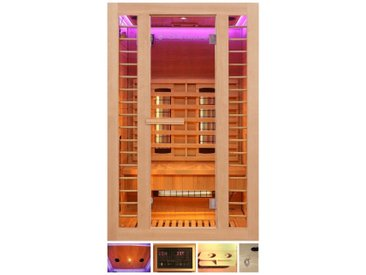 HOME DELUXE Infrarotkabine »Redsun M Deluxe«, 120x105x190 cm, natur, natur