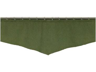 Wirth Querbehang nach Maß »Landhaus-Uni«, Kräuselband (1 Stück), grün, Kräuselband, blickdicht, grün