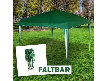 Faltpavillon 3 x 3 m in grün, Camping und Festivalzelt mit Tragetasche