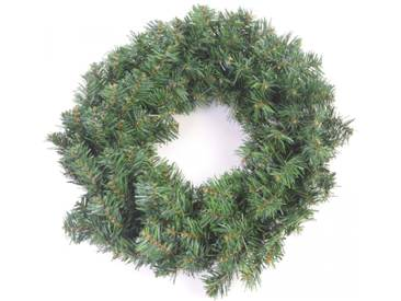 Künstlicher Weihnachtskranz / Deko aus Kunststoff in grün ca. 50cm Ø