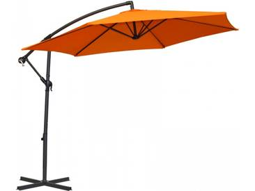 Ampelschirm/Sonnenschirm Alugestell 160 g/m2 Polyester orange UV Schutz