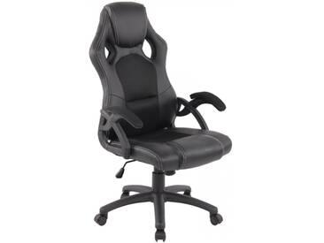 Racing Bürostuhl Gamer schwarz Schreibtischstuhl als Schalensitz