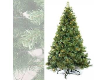 Künstlicher Weihnachtsbaum mit Beleuchtung - Plastik Tannenbaum 210 cm hoch