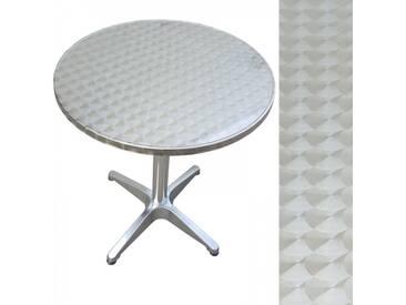 Bistrotisch rund aus Metall 60cm Beistelltisch Aluminium