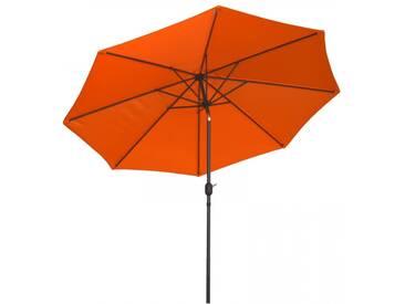 Sonnenschirm 3x3m mit Kurbel Alu mit UV-Schutz 50+ in orange