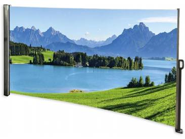 Seitenmarkise Berge - Foto Windschutz Sichtschutz Links 160 x 300 cm