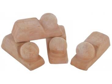 Kübelfüße Pflanzkübel Untersetzer 4er Set für Pflanztöpfe aus Terrakotta