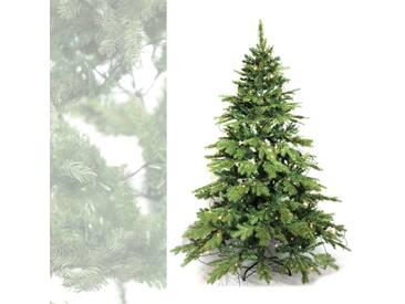 Künstlicher Weihnachtsbaum mit Beleuchtung 120 warm LED - 180 cm hoch