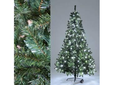 Künstlicher Weihnachtsbaum Beleuchtung 264 LEDs - Plastik Tannenbaum 210 cm hoch
