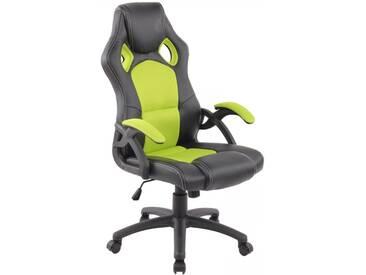 Racing Bürostuhl Gamer schwarz neongrün Schreibtischstuhl Schalensitz