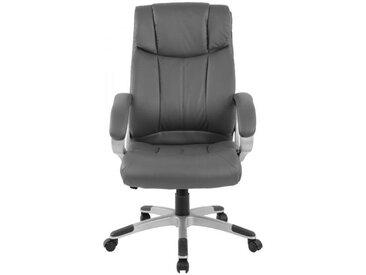 Chefsessel  ergonomisch Kunstleder grau Schreibtischstuhl Drehstuhl