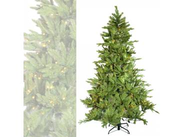 Künstlicher Weihnachtsbaum 180 cm Beleuchtung 240 LEDs PE Spritzguss