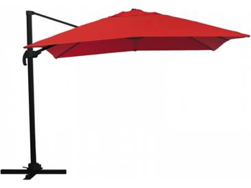 Ampelschirm Sonnenschirm schwenkbar 3x3 m rot Sonnenschutz UV50+