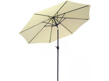 Sonnenschirm 3x3m mit Kurbel Alu mit UV-Schutz 50+ in natur/beige