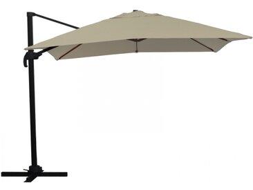 Ampelschirm Sonnenschirm schwenkbar 3x3 m braun Sonnenschutz UV50+