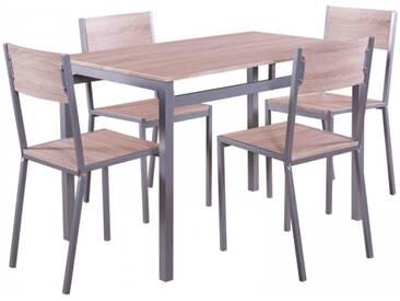 Esstischgruppe Sitzgruppe mit 4 Stühlen und Esstisch 110 x 70 cm