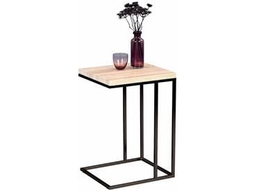 Beistelltisch Rene Sonoma Eiche Dekor + Metallgestell in matt schwarz