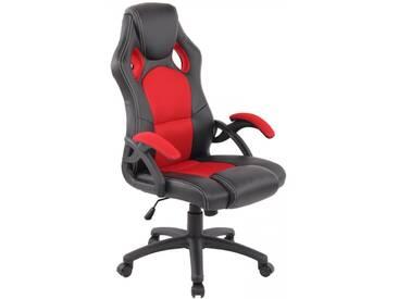 Racing Bürostuhl Gamer schwarz rot Schreibtischstuhl als Schalensitz